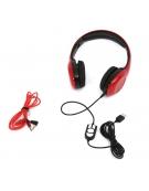 FREESTYLE HEADSET FH-4920 ΜΙΚΡΟΦΩΝΟ ΚΟΚΚΙΝΟ mini jack + USB [42687]