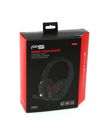 FREESTYLE HEADSET FH-5401 HI-FI + ΜΙΚΡΟΦΩΝΟ GAMING USB [42690]