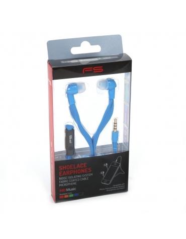 FREESTYLE SHOELACE EARPHONES + ΜΙΚΡΟΦΩΝΟ FH2112 ΜΠΛΕ [42777]