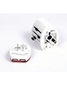 OMEGA ΦΟΡΤΙΣΤΗΣ ΤΑΞΙΔΙΟΥ 220-250V 4 ΣΕ 1 ΜΕ USB (42010)
