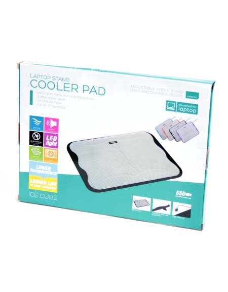 "OMEGA LAPTOP COOLER PAD "" ICE CUBE"" ΜΑΥΡΟ"