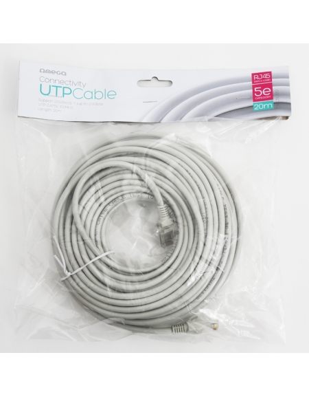 NETWORK OMEGA CABLE UTP CAT5E PATCH CORD RJ45 2M [40251]