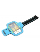 PLATINET SPORT ARMBAND FOR SMARTPHONE BLUE WITH LED