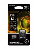 PLATINET microSDHC SECURE DIGITAL + ADAPTER SD 16GB class10 UIII 90MB/s [44001]
