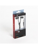 FREESTYLE ZIP EARPHONES + MIC FH2111 BLACK [41798]
