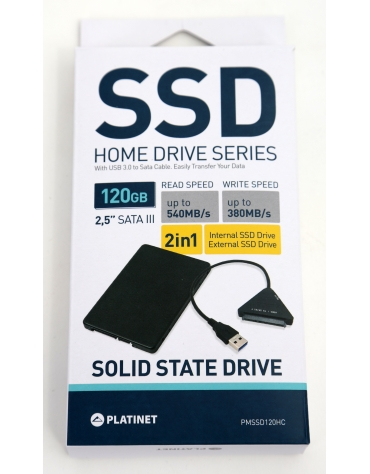 PLATINET SSD 120GB SATAIII HomeLine 540/380MB/s + SATA CABLE [43523]