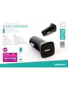 OMEGA CAR CHARGER 1xUSB Quick Charge 3.0 18W black [44253]