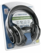 STEREO AUDIO HEADPHONES BLUES BLACK