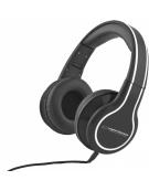 STEREO AUDIO HEADPHONES BLUES BLACK