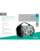 "OMEGA SPEAKER OG73 BAZOOKA 6,5"" 20W BLUETOOTH V2.1 COLOR [44163]"