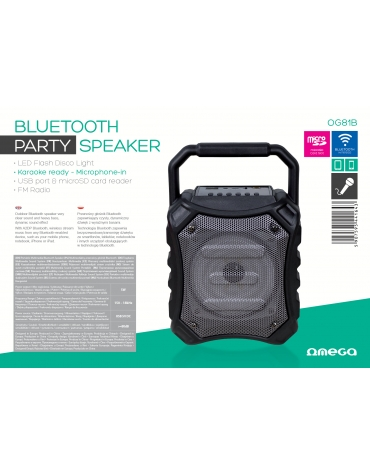 OMEGA SPEAKER OG81 DISCO 5W BLUETOOTH V2.1 [44164]
