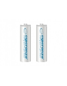ESPERANZA RECHARGEABLE BATTERIES Ni-MH AA 2000MAH 2PCS. WHITE