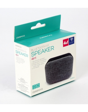 OMEGA SPEAKER OG58DG BLUETOOTH V4.1 FABRIC GREY [44333]