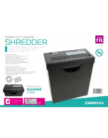 OMEGA SHREDDERS PAPERS & CDs