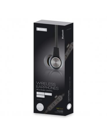 PLATINET IN-EAR BLUETOOTH V4.2 + microSD + ΜΙΚΡΟΦΩΝΟ ΓΚΡΙ [44474]