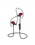 PLATINET IN-EAR BLUETOOTH V4.2 + microSD + ΜΙΚΡΟΦΩΝΟ ΚΟΚΚΙΝΟ [44475]