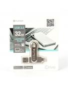 PLATINET  iOS PENDRIVE USB 3.0 32GB + LIGHTNING PLUG FOR Ipad & iPHONE [44323]