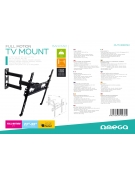 OMEGA TV BRACKET MAX VESA 400 FULL MOTION BANYAN