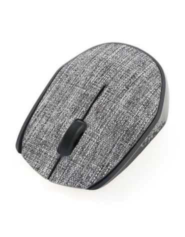 MOUSE OMEGA OM-430 WIRELESS FABRIC BRAIDED GREY [44565]