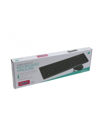 KEYBOARD GR + MOUSE OMEGA OKM071B M-MEDIA W-LESS SET 2.4 GHZ BLACK [43743]