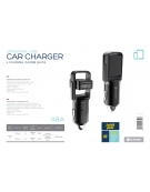 PLATINET CAR CHARGER ROTATION USB 2xUSB 4.8A [44651]