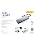 PLATINET MULTIMEDIA ADAPTER USB TYP C CARD READER MICRO SD SDHC SDXC CF