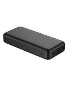 PLATINET POWER BANK 20000 mAh POLYMER BLACK + microUSB cable