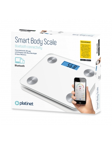 PLATINET BATHROOM BODY SCALE SMART BLUETOOTH WHITE