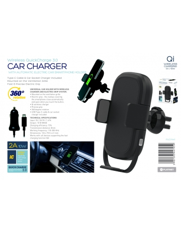 PLATINET WIRELESS INDUCTION SMARTPHONE CHARGER + CAR CHARGER CABLE SET