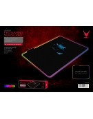 VARR PRO-GAMING MOUSE PAD 250x300x4mm LED EDGE BLACK [44888]