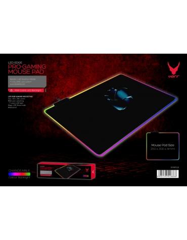 VARR PRO-GAMING MOUSE PAD 250x300x4mm LED EDGE BLACK [44888]