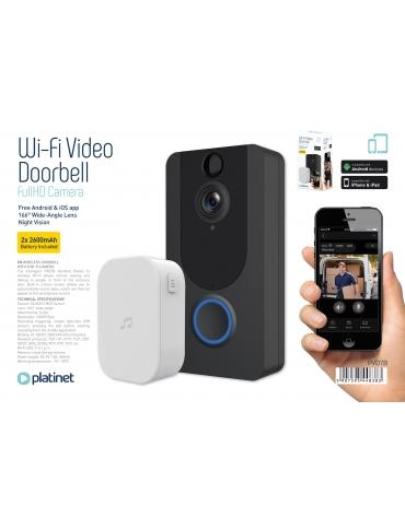 PLATINET VIDEO DOORBELL BLACK 1080p CAMERA WIFI