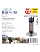 PLATINET TABLE HEATER COLOR LED WITH SENSOR 1200W 65CM IP44