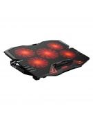 OMEGA LAPTOP COOLER PAD LCD SCREEN BLACK RED LIGHT