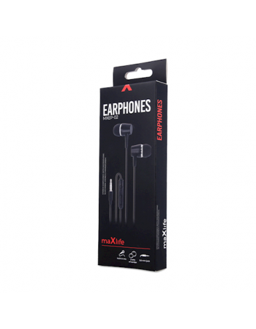 Maxlife wired earphones MXEP-02 black