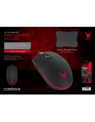 VARR GAMING SET LED MOUSE + MOUSEPAD 295X210X2 MM