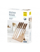 PLATINET 5 KNIFES SET WITH MAGNETIC BAMBOO BOARD