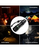 PLATINET ALUMINIUM FLASHLIGHT ZOOM WITH CLIP 3W