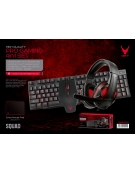 VARR GAMING 4IN1 SET SQUAD 01 MOUSE/MOUSEPAD/HEADSET/KEYBOARD