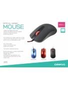 MOUSE OMEGA OM-520 FULL SIZE 1000DPI RED