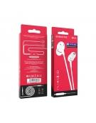 Borofone Wired earphones BM36 white