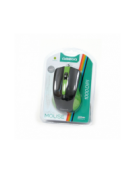 MOUSE OMEGA OM-05G OPTICAL 800-1200-1600DPI GREEN BLISTER [41788]