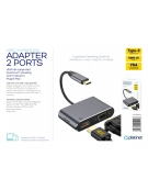 PLATINET MULTIMEDIA ADAPTER Type-C to HDMI 4K 30Hz VGA PORT