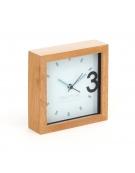 PLATINET CLOCK/ALARM CLOCK WOODEN APRIL