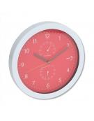 PLATINET CLOCK SUMMER WALL CLOCK TEMP/HYGRO RED