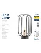PLATINET DESK LAMP 25W E27 METAL + PLASTIC BLACK FINISH