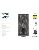 PLATINET DESK LAMP 25W E27 METAL 1.5M CABLE BLACK FINISH