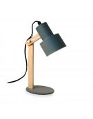 PLATINET DESK LAMP 25W E27 METAL+WOOD 1,5M WHITE CABLE ΓΚΡΙ