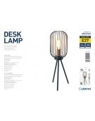 PLATINET TABLE LAMP 25W ΜΑΥΡΟ