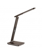PLATINET OFFICE LAMP LED 14W WITH LCD SCREEN DISPLAY TIME AND TEMP + USB CHARGER - ΜΑΥΡΟ